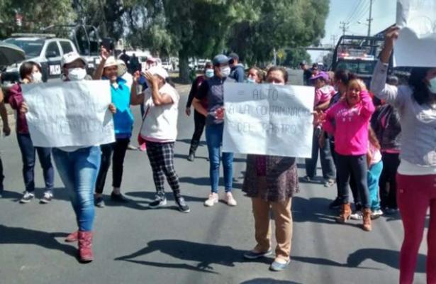 Protestan contra rastro, en Texcoco