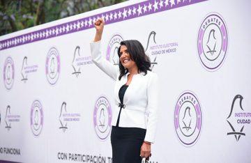 Barrales, la única de los siete candidatos a la jefatura capitalina que explicó propuestas
