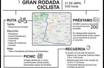 Con gran rodada conmemora CDMX día mundial de la bicicleta