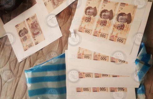 Elaboraban billetes apócrifos y son detenidos