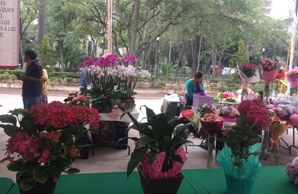 Productores venden y exhiben sus productos para el día de la madre