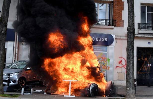 Detienen a más de 200 por enfrentamientos en el Día del Trabajo en París