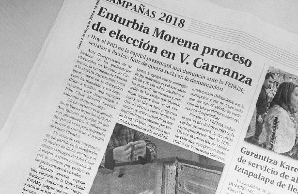 Denunciará PRD a Morena ante la FEPADE por enturbiar proceso en la Venustiano Carranza