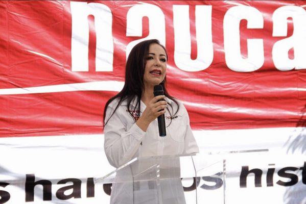 Exigen retiro de publicidad de Patricia Durán en Naucalpan