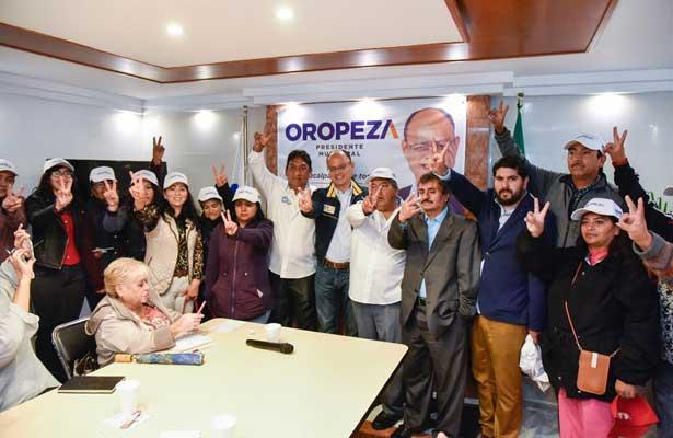 PT y Morena se suman a la campaña de Oropeza