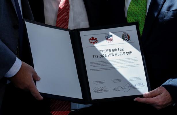 Trump felicita a México, Canadá y EUA por Mundial 2026