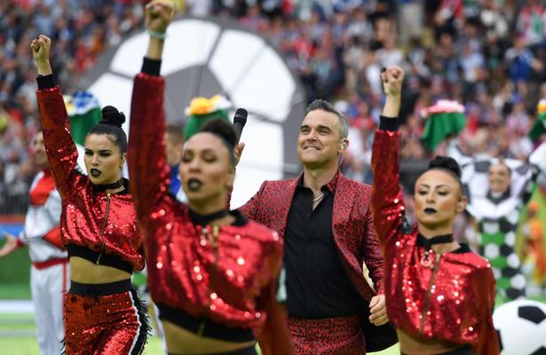 Robbie Williams inauguró el mundial de Rusia 2018