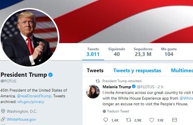 Trump apelará decisión que le impide bloquear a sus críticos en Twitter