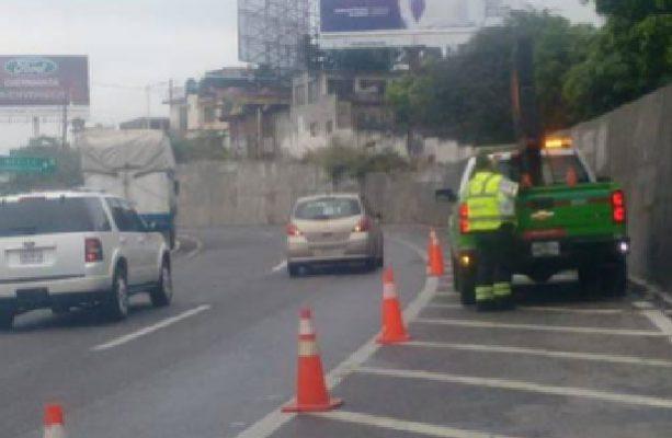 Se registra hundimiento la México-Cuernavaca