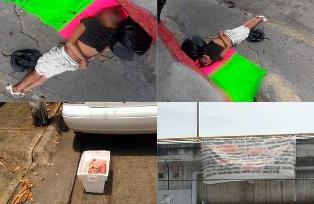 Anuncian crimen con mensajes y lo cumplen al amanecer en Acapulco