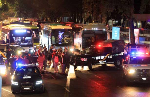 Prevén cierres viales en la ciudad por arribo de maestros de la CNTE