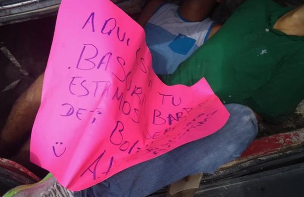 Dejan a dos encajuelados en Acapulco, Guerrero