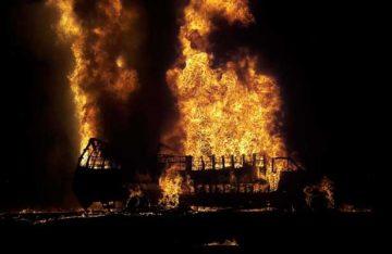 Así fue el incendio de un ducto de Pemex