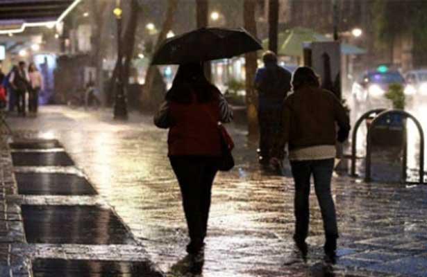 Prevén lluvia y caída de granizo en el Valle de México