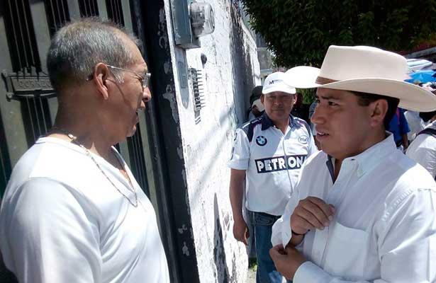 Pide seguridad a candidato en Tláhuac