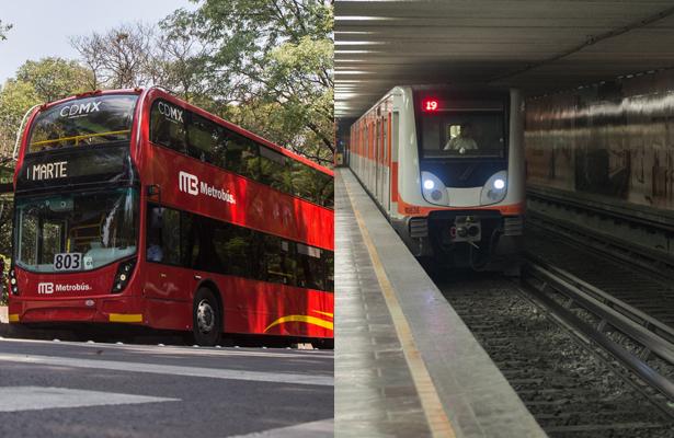¡Gratis! Metro y Metrobús el domingo 1 de julio: Amieva