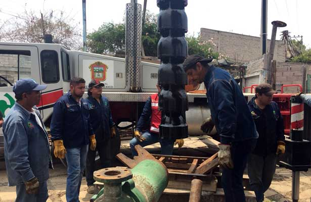 Aumentan suministro de agua en Nezahualcóyotl