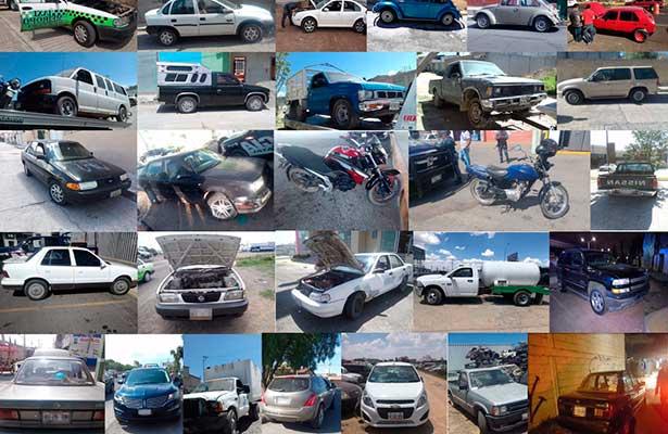 Recupera la policía de Hidalgo 33 vehículos, la mayoría robados