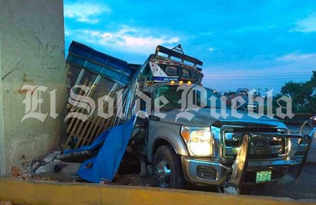 Fatal choque en la Puebla-Orizaba