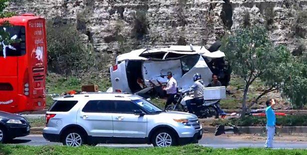 Aparatoso accidente en Hidalgo