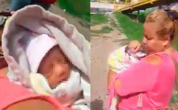 Abandonan a bebe en bajo puente de SLP