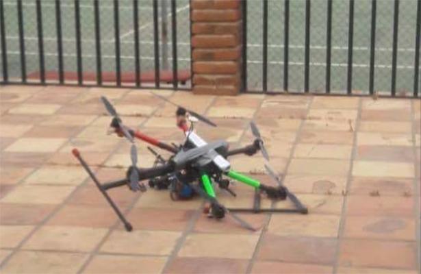Dirigen drones con granadas a titular de Seguridad BC