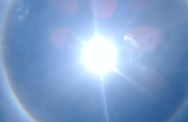 Halo Solar ilumina la Ciudad de México
