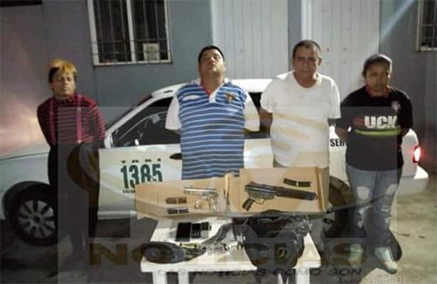 Detienen en Iguala a cuatro personas con arma de fuego y una de plástico