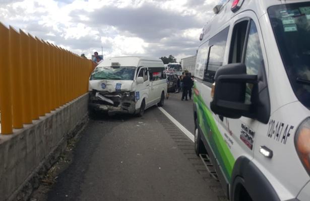 [Video] Se registra fuerte choque en la México-Puebla