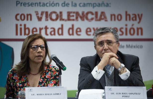 """Impulsa CNDH campaña """"Con violencia no ha libertad de expresión"""""""