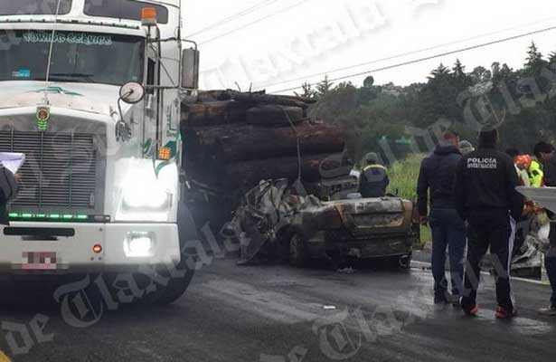 Trágico accidente en Tlaxcala deja cuatro muertos [VIDEO]