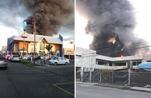[Video] Fuego consume bodega en Zamora