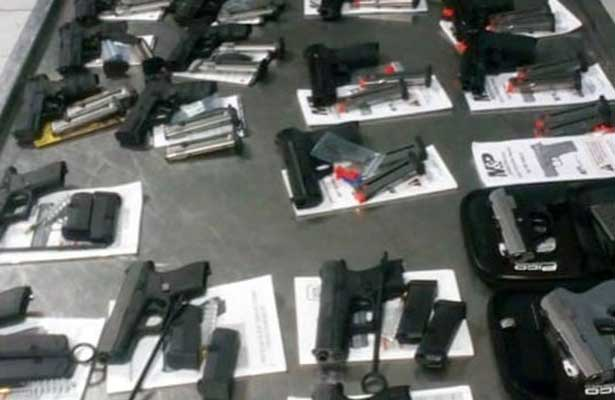 Confiscan armas en aduana de Reynosa provenientes de E.U