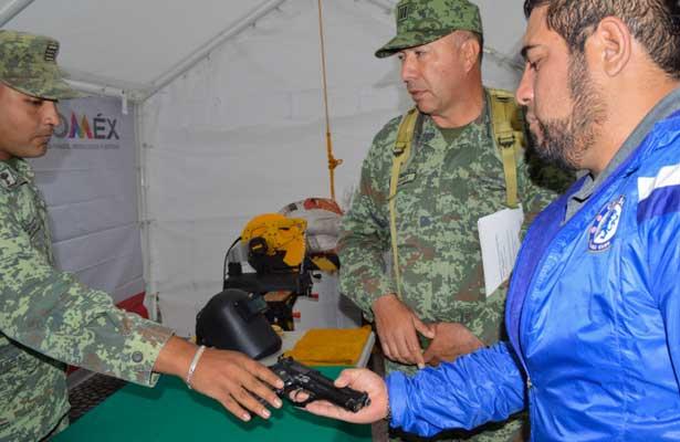 Inicia canje de armas en Cuatitlán