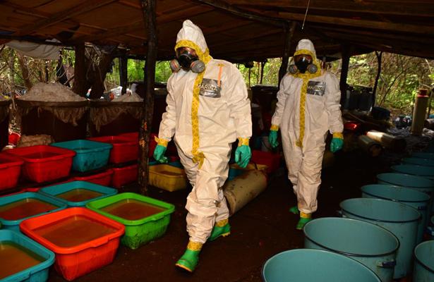 Semar asegura 50 toneladas de droga sintética, en Culiacán