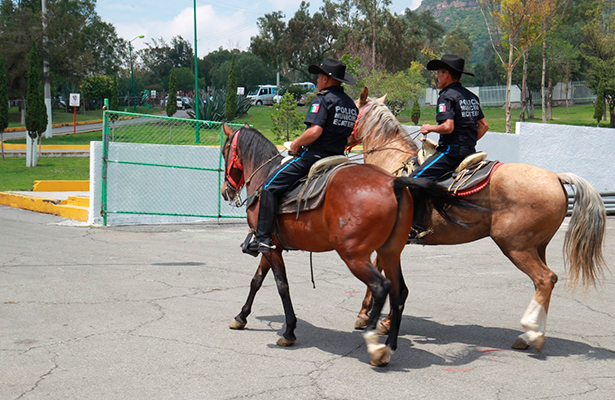 Capacitan a policía de Ecatepec en cuidado y manejo de equinos