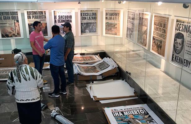 Exposición La Prensa, 90 años del Diario de las Mayorías en el metro Pino Suarez