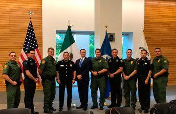 Refrenda Policía Federal compromiso de trabajar en forma coordinada con la oficina de aduanas y protección fronteriza de EUA