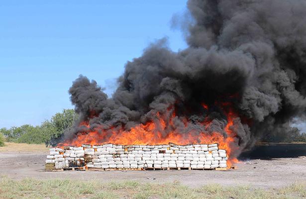 Incinera PGR en Tamaulipas más de 10 toneladas de droga