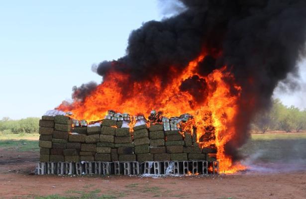Incinera PGR cinco toneladas de narcóticos en Sonora