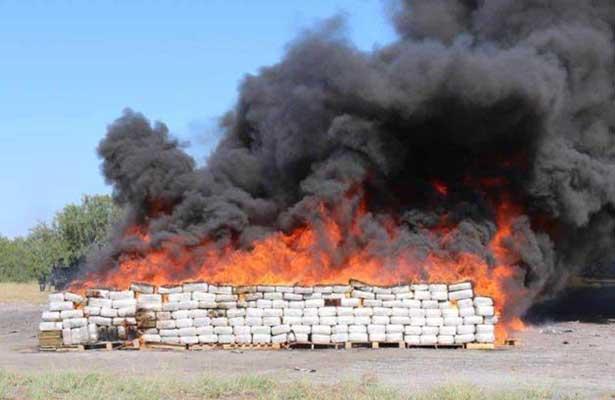 Incinera PGR más de 10 toneladas de droga en Tamaulipas