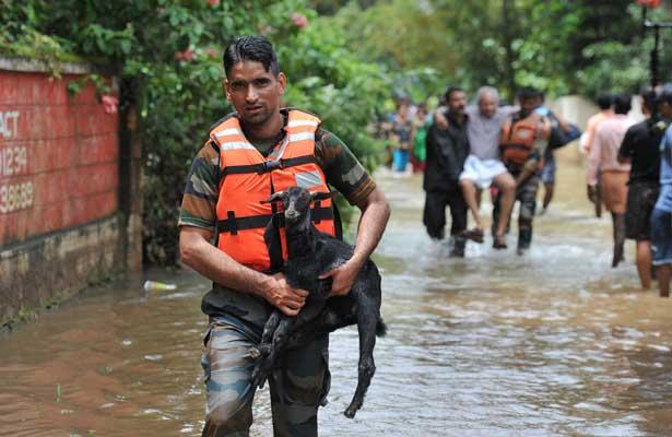 Casi 200 muertos por lluvias e inundaciones en la India