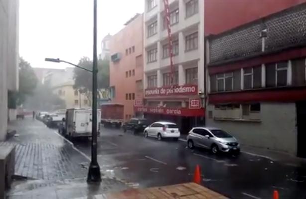 Alerta amarilla en la CDMX por lluvias