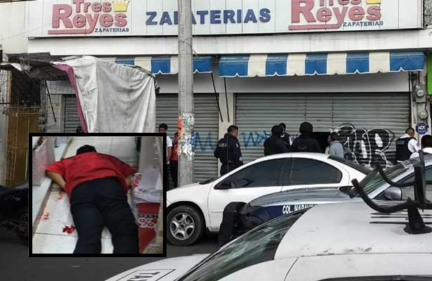 Zapatero desayuna plomo en Neza