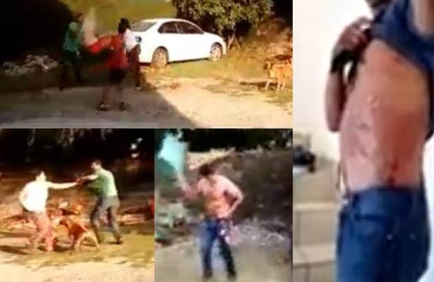 Enfurecida mujer le prendió fuego a su pareja (VIDEO)