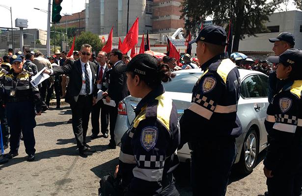 SSP-CDMX desplegó operativo para entrega de constancia en el Tribunal Electoral
