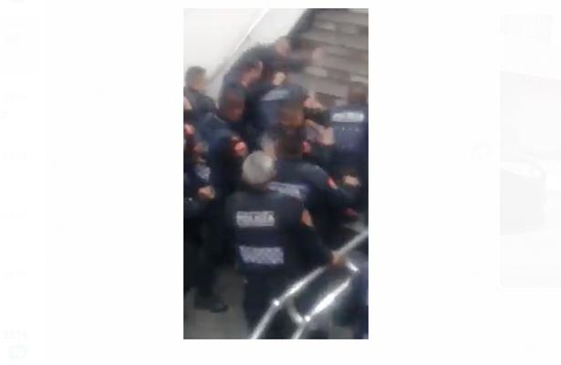 (VIDEOS) El golpeado del metro es un ex policía