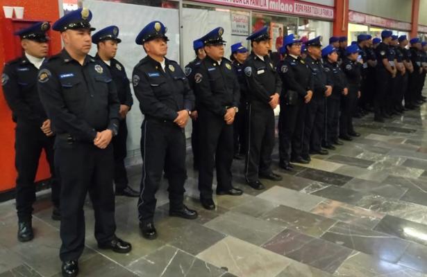 Refuerzan seguridad de la Línea 7 del Metro con 342 policías