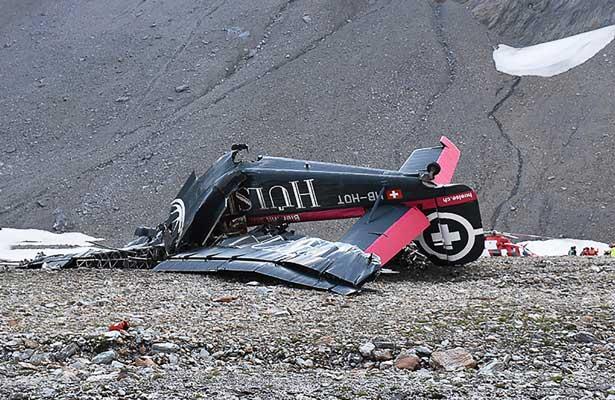 Avionazo en Suiza deja 20 personas muertas