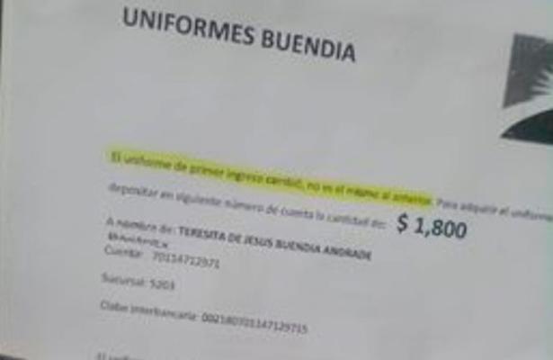 Denuncia irregularidades en uniformes para el CONALEP Ecatepec